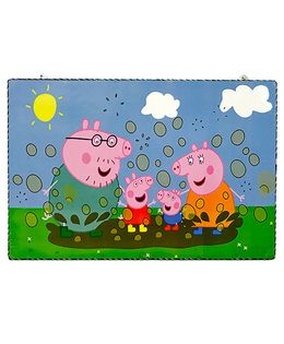 Li'll Pumpkins Mini Pig Wooden Pin Board - Blue & Green