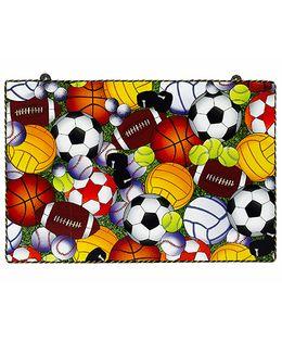 Li'll Pumpkins Multi Sport Ball Wooden Pin Board - Yellow & Brown