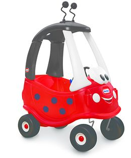 Little Tikes Cozy Coupe Manual Push Ride On Car Ladybug - Red Grey