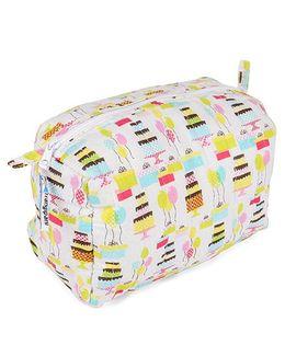 Frangipani Kids Birthday Print Toiletry Bag - Multicolour