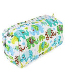 Frangipani Kids Emerald Elephant Toiletry Bag - Blue