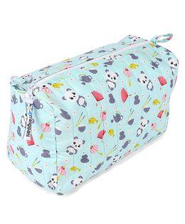 Frangipani Kids Panda Toiletry Bag - Blue