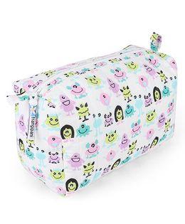 Frangipani Kids Monster Print Toiletry Bag - Multicolour