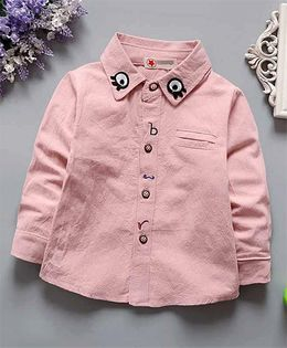 Superfie Eye On Collar Shirt For Kids - Pink