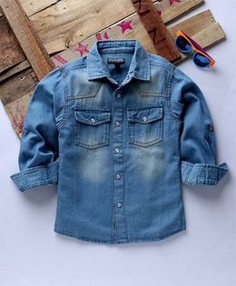 Tonyboy Casual Denim Shirt - Blue