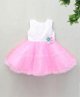 M'Princess Layered Party Dress - White & Pink
