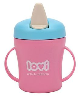 Lovi First Baby Cup Pink And Blue - 200 ml