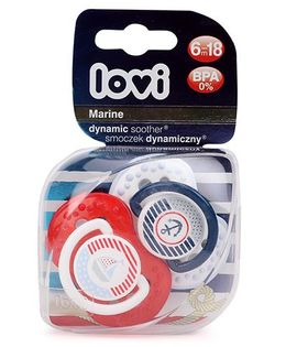 Lovi Dynamic Marine Silicone Soother - Red