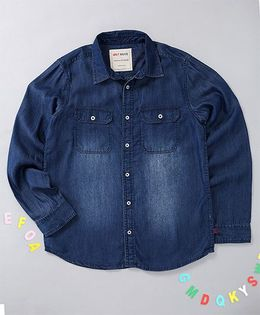 Holy Brats Denim Shirt - Blue