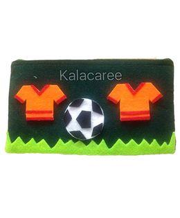 Kalacaree Football Theme Patch Pencil Pouch - Green