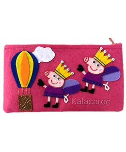 Kalacaree Hot Air Ballon Patch Pencil Pouch - Pink