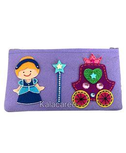 Kalacaree Fairy Doll Patch Pencil Pouch - Light Blue