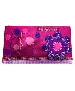 Kalacaree Multiflower Patch Pencil Pouch - Dark Pink