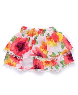 Vitamins Layered Skirt Floral Print - Multi Colour
