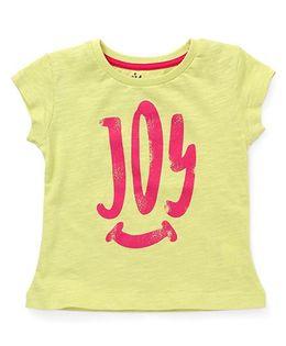 Vitamins Short Sleeves Tee Joy Print - Lemon Yellow