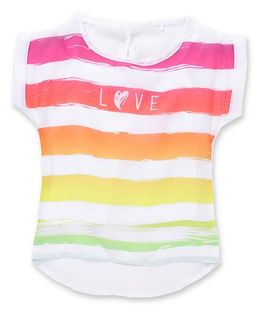 Vitamins Short Sleeves Tee Love Print - White And Multi Color