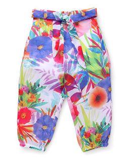 Vitamins Floral Print Pants - Multi Color