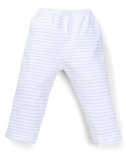 Tiny Bee Boys Infant Wear Striped Pants - Blue & White
