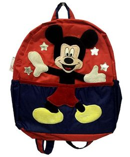 Thought Counts 3D Cartoon Charachter School Bag - Red & Blue