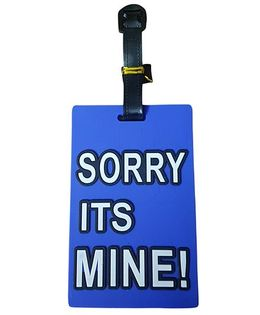 Thought Counts Sorry Its Mine Travel Tag - Dark Blue