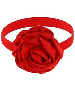 Little Cuddle Rose Design Headband - Red