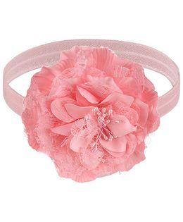 Little Cuddle Big Flower Headband - Light Pink