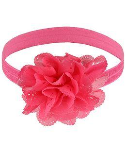 Little Cuddle Cutwork Flower Headband - Dark Pink