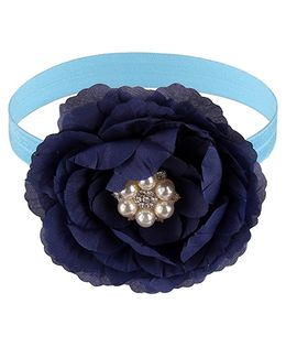 Little Cuddle Petals Pearl Applique Headband - Blue