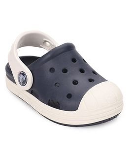 Crocs Clogs With Back Strap - Navy Off White