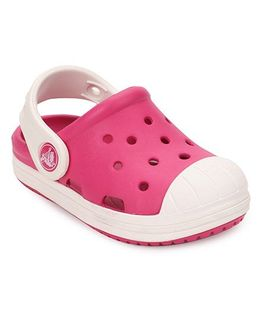 Crocs Girls Clogs Candy Pink/Oyster 6Y