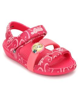 Crocs Sandals With Velcro Closure - Pink