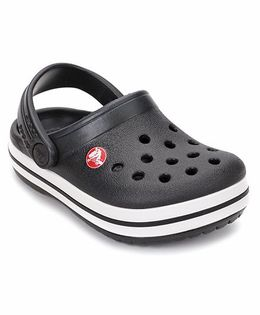 Crocs Clog With Back Strap - Black White