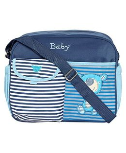 Ez Life Stripes Medium Diaper Carry Bag - Blue