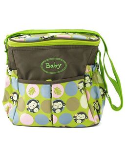 Ez Life Happy Monkey Diaper Carry Bag - Green