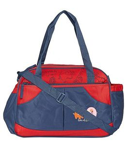 Ez Life Animal Safari Printed Baby Diaper Carry Bag - Blue & Red