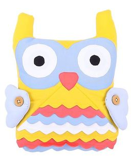 Hugsntugs Owl Face Cushion - Yellow