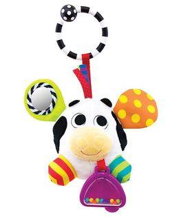 Sassy Bumpy Cow Rattle - Multicolor