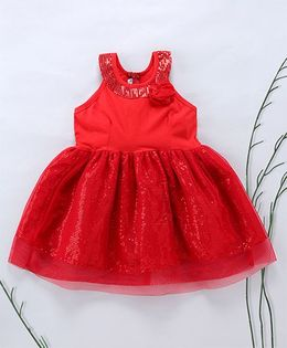 Murphy Mouse Sequins Glitterati Dress - Red