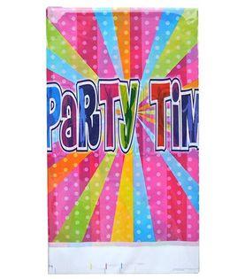 Shopaparty 1 Piece Disco Party Table Cover - Pink