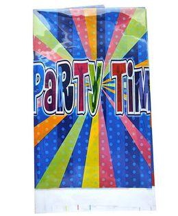 Shopaparty 1 Piece Disco Party Table Cover - Blue