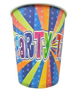 Shopaparty 10 Pieces Disco Party Paper Cups - Blue