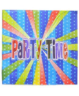 Shopaparty 2 Pieces Disco Party Paper Napkins - Blue