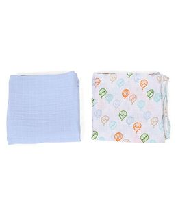 Hudson Baby Muslin Swaddle Blankets - White