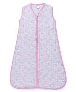 Hudson Baby Muslin Sleeping Bag - Pink