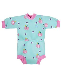 Splash About Apple Daisy Full Sleeve Onesie Style Swim Suit - Blue