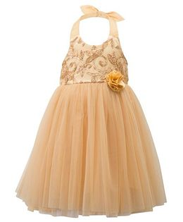 Toy Balloon Halter Neck Party Wear Frock - Beign