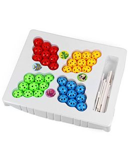 Tipy Tipy Tap Educational 3D Inserted Beads Puzzle - Multicolour