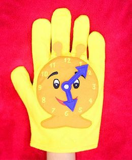 Tipy Tipy Tap Clock Hand Glove Puppet - Yellow