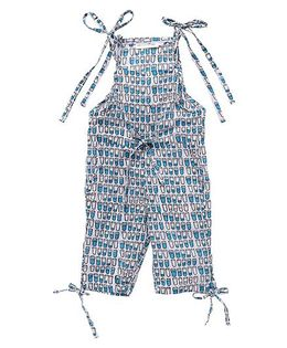 Eight Thousand Miles Jumpsuit For Girls - Blue