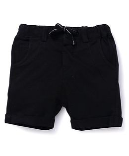 Fox Baby Plain Shorts With Drawstring - Black